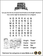 Frankie's Magic Football Wordsearch