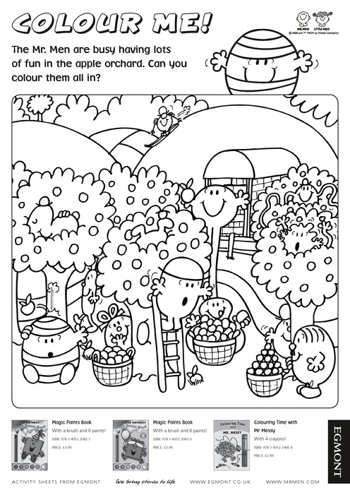 mr men books coloring pages - photo#19