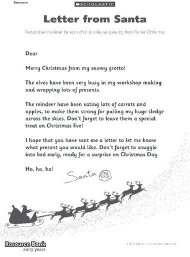 Letter From Santa FREE Early Years Teaching Resource