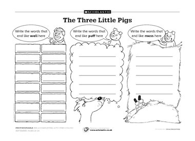the three little pigs free primary ks1 teaching resource scholastic. Black Bedroom Furniture Sets. Home Design Ideas