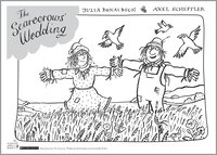 The Scarecrows' Wedding colouring sheet