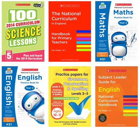 A selection of books published by Scholastic Educational Publishing