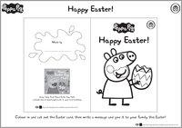 Peppa Pig Easter Card