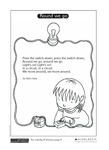circuits science poem  u2013 primary ks1 teaching resource