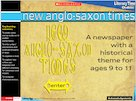 New Anglo-Saxon Times &#8211; interactive resource