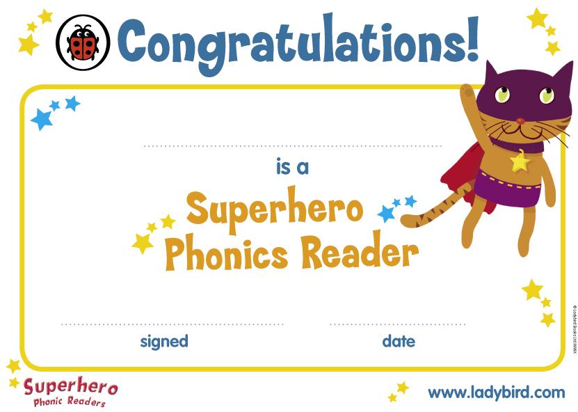 Superhero Phonics Certificate - Scholastic Kids' Club