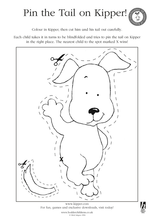 Pin The Tail On Kipper Scholastic Kids Club Kipper The Coloring Pages