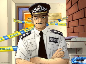 Illustration of a policeman