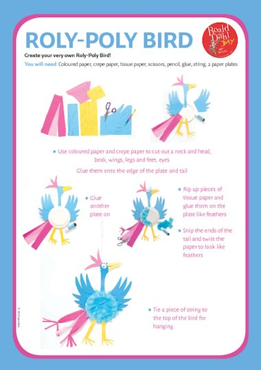 Illustrated instructions on how to make a Roly Poly bird inspired by ...