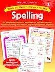 Week-by-Week Homework Packets: Spelling: Grade 1
