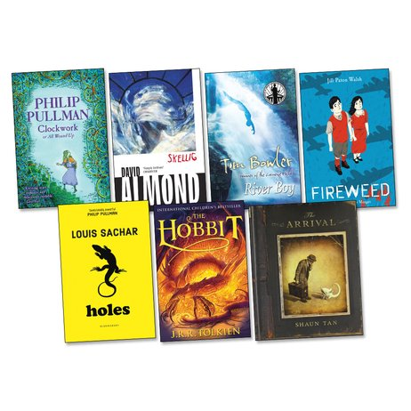 Picture of titles for the Year 6 reading spine