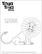 Tinga Tinga Lion Colouring