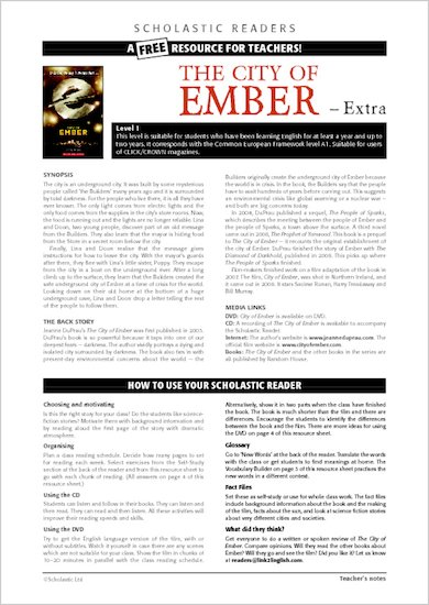 The City of Ember: Resource Sheets & Answers