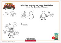How to Draw B'ob Activity Sheet