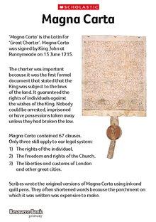 how to write a magna carta for kids