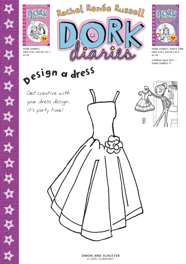 Dork Diaries Design A Dress Scholastic Kids Club