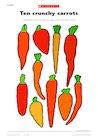 Ten crunchy carrots