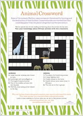White Giraffe Crossword