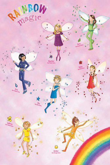 Rainbow magic activity rainbow magic poster scholastic for Rainbow magic fairy coloring pages