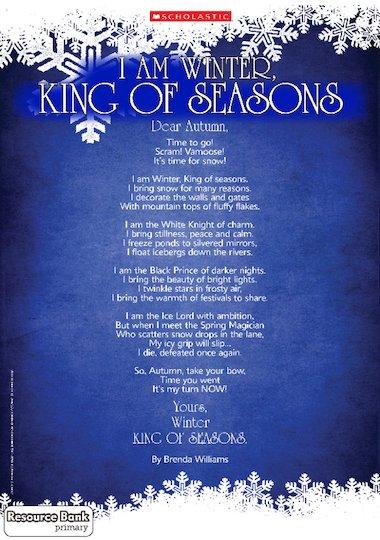 King of Seasons' winter-themed poem – FREE Primary KS2 teaching ...