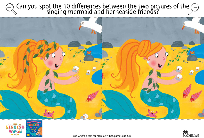 Singing Mermaid Spot the Difference - Scholastic Kids' Club