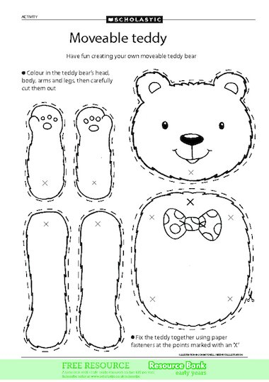 Teddy Bear Craft Template