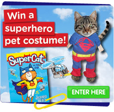 Win a Superhero pet costume