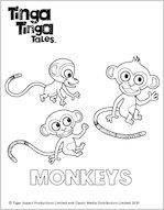 Tinga Tinga Monkey Colouring