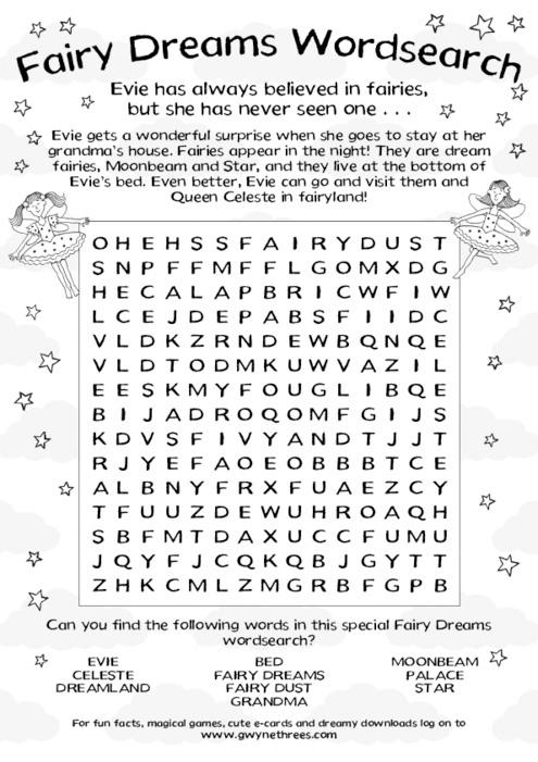 Fairy Dreams Word Search - Scholastic Book Club