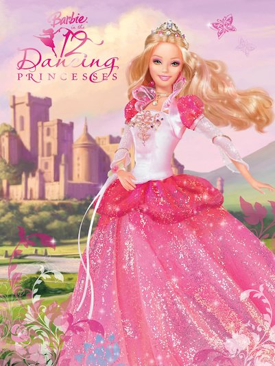 barbie 12 dancing princesses storybook in a magical land live 12 ...