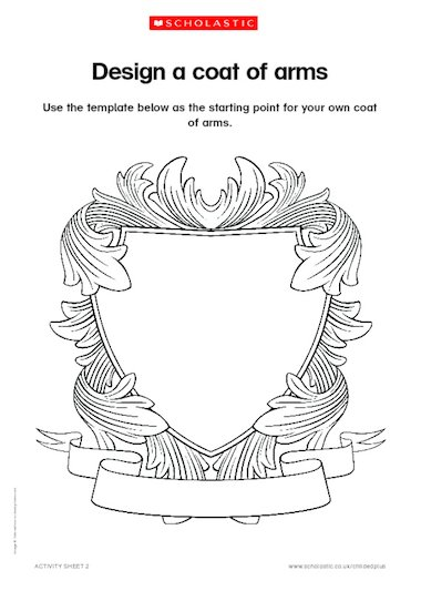 make your own coat of arms template - design a coat of arms primary ks1 ks2 teaching