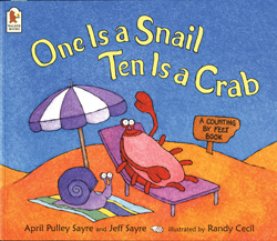 One is a snail ten is a crab cover