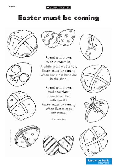 This Easter-themed poem is fun to read to the children and the ...