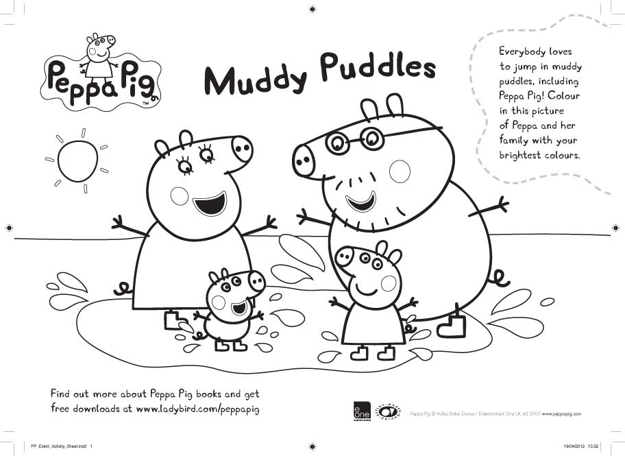 To Print Fun Peppa Pig Colouring Pages As A Full Size Page