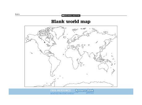 World Map Game Ks World Map With Continents By Englishgirl - Blank world map scholastic