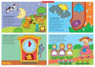 Nursery Rhymes Poster Early Years Teaching Resource