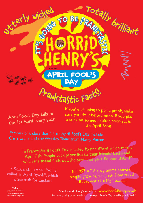 april fools day wallpaper. Horrid Henry's April Fool's Facts! Hhenryfacts-act-free-287