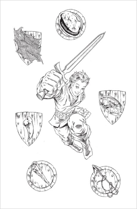 Colouring Pages Beast Quest : Tom beast quest colouring pages page