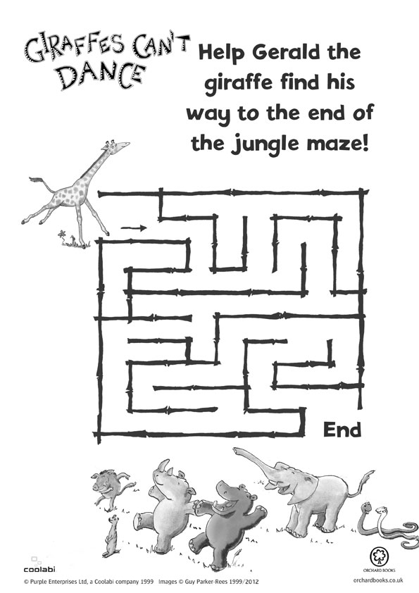 Giraffes Can't Dance maze - Scholastic Book Club