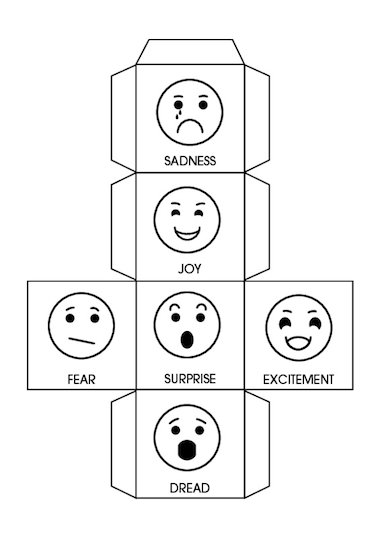 Use this template to create an 'Emotion Dice' to use with Part 3 ...