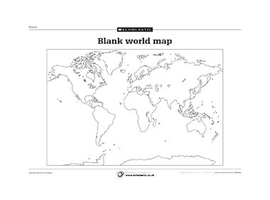World map outline printable pdf an outline map of the world gumiabroncs Image collections