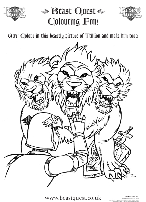 Colouring Pages Beast Quest : Free coloring pages of beast quest