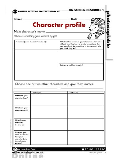 Character Design Book Pdf : Ancient egypt character profile primary ks teaching