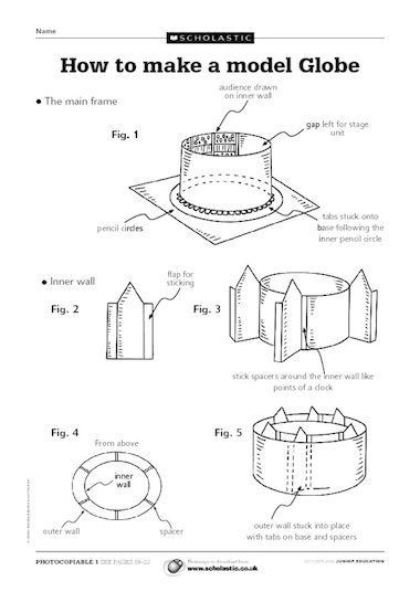 Instructions On How To Make A Model Of The Globe Theater