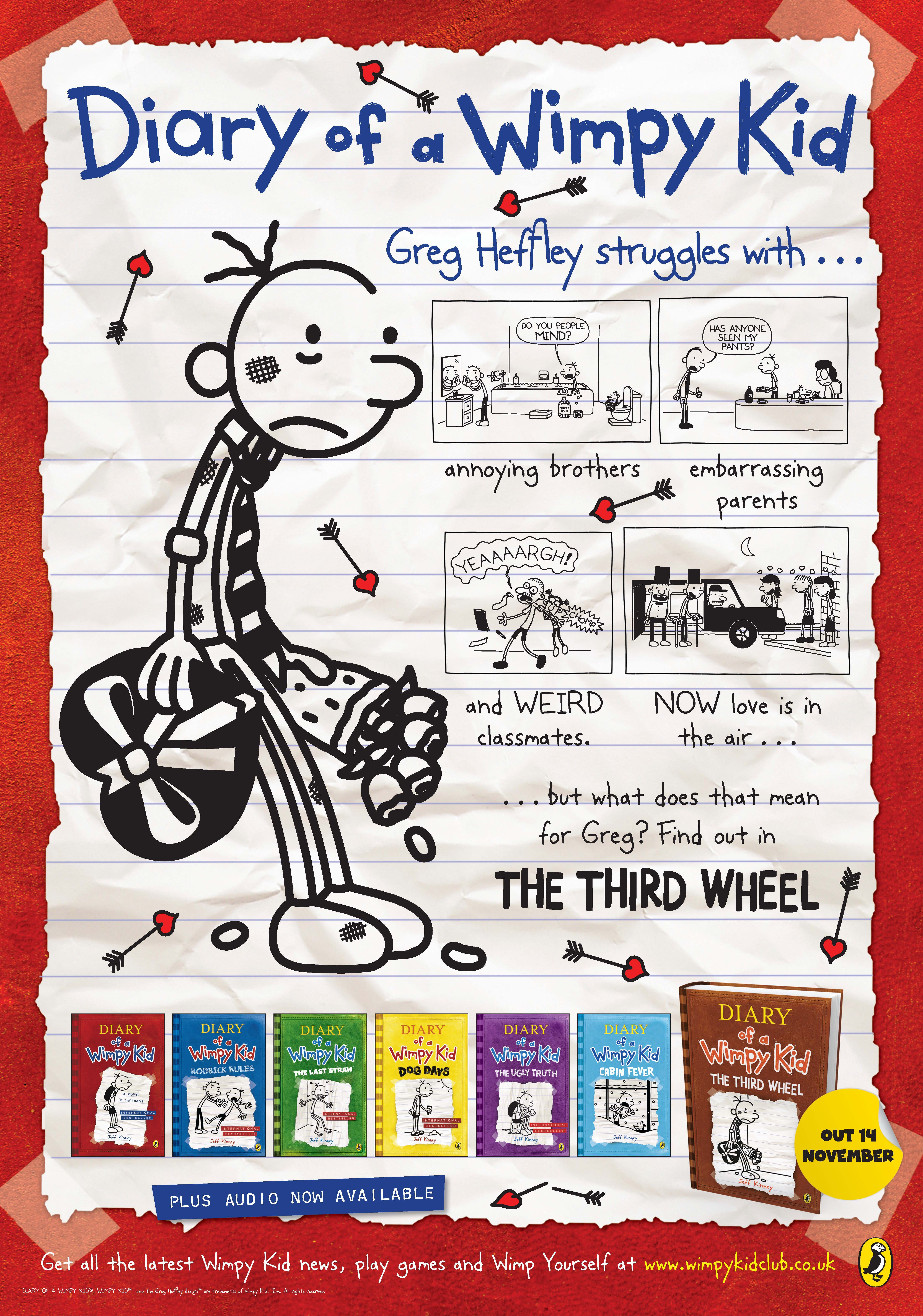 The third wheel diary of a wimpy kid book 7 jeff kinney paperback solutioingenieria Gallery
