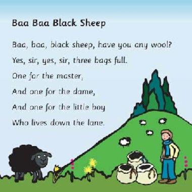 Baba black sheep rhyme video download