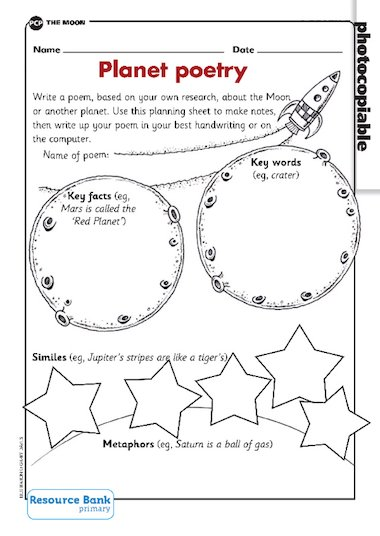 poems about the solar system