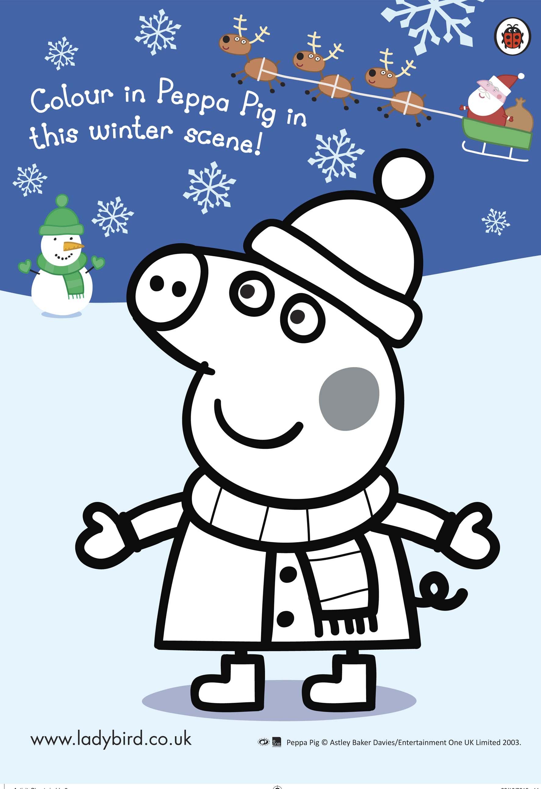 Peppa Pig Christmas colouring Scholastic Kids 39 Club