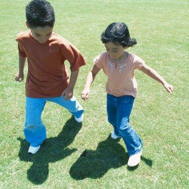 Children with shadows