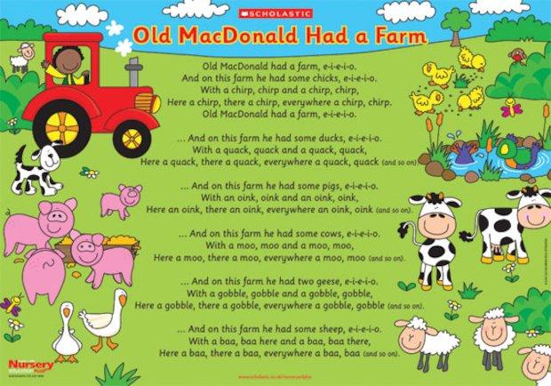 Old MacDonald had a farm poster